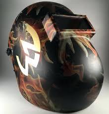 fiber metal welding hood blaze helmet w gold logo fibre auto darkening