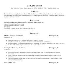 Sample Of Resume UAB Students Career Professional Development Sample Resumes 82