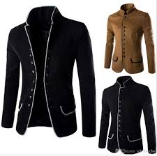Latest Blazer Designs 2018 2019 Wool Blends Blazer Suits Men Stand Collar Single Breasted Flanger Design 2017 Two Pockets Fashion Mens Dress Blazers From Reliablechu 29 25
