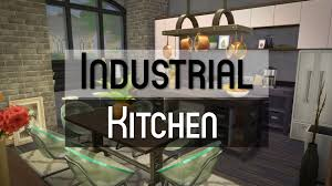 Sims Kitchen The Sims 4 Room Build Industrial Kitchen Youtube