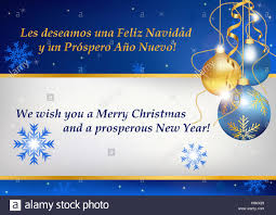 Buisness Greeting Cards Business Christmas And New Year Greeting Card In Two Languages Stock