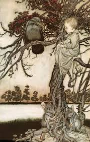 best arthur rackham peter pan in kensington gardens images on  figure peter put his strange case before old solomon caw arthur rackham peter pan in kensington gardens