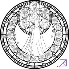 Small Picture Elsa Stained Glass Line Art by Akili Amethyst on DeviantArt