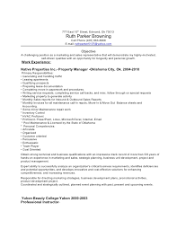Property Management Resume Skills Property Manager Resume Skills