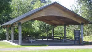 creekside picnic shelter at salmon creek regional park