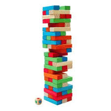 How To Play Tumbling Tower Wooden Block Game Basecamp Tumbling Tower Game I Outside Inside Gifts and Games 65