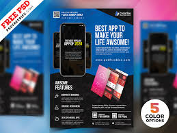 Design Flyer App Mobile App Flyer Design Psd Bundle By Psd Freebies On Dribbble