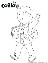 Caillou Coloring Coloring Pages Printable Print Kids Book Plus