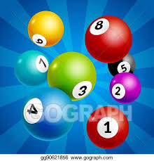 Vector Art - Bingo lottery balls numbers background. lottery game balls.  lotto winner. Clipart Drawing gg90621856 - GoGraph