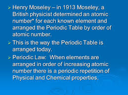 Who Arranged The Periodic Table In Order Of Increasing Atomic ...