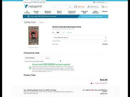 Vistaprint Using A Promo Code Or Coupon Youtube
