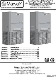 compac i and compac ii air conditioner product manual pdf 35 chapter 6 warranty 36 parts list exploded views