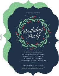 Birthday Party Evites Christmas Birthday Invitations Christmas Birthday Party