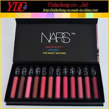 china 12 pieces liquid lipstick the most moving lip gloss set for nars cosmetics china makeup lipstick cosmetics lip gl