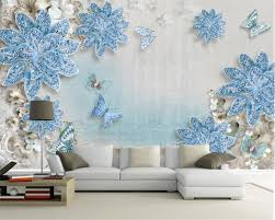 Beibehang Custom 3d Photo Wallpaper Three Dimensional Luxury Blue