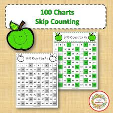 100 Chart 100 Number Charts With Skip Counting