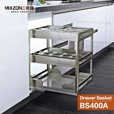 surprising pull out organizer 27 basket stainless steel kitchen cabinet condiment sliding two tiers e bottles