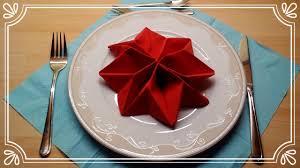 Servietten Falten Weihnachtsstern Tischdeko Servietten Falten