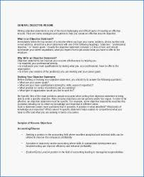 Effective Career Objective For Resumes Career Objective On Resume Luxury Professional Objective For Resume
