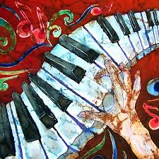 Crazy Painting Crazy Fingers Piano Square Painting By Sue Duda