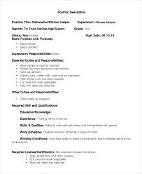 dishwasher sample resume sample dishwasher job description 8 examples in  word dishwasher resume samples job bank . dishwasher sample resume ...