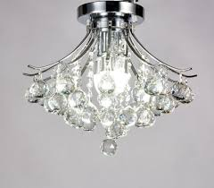 flush mount crystal chandelier diamond life modern style light chrome finish ceiling fixture x by small lights fixtures large drum kitchen lighting black
