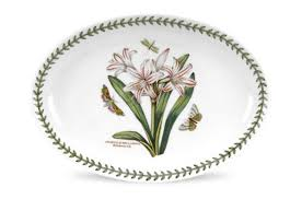 "<b>Блюдо овальное</b> Portmeirion ""Ботанический сад.<b>Белладонна</b>"" <b>28см</b>"