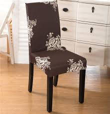 jacquard checked flower stretch removable antifouling short dining chair cover protector seat slipcover for hotel