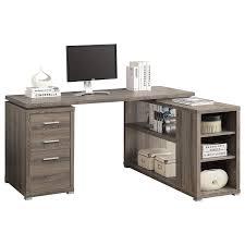 monarch specialties i 7023 hollow core left or right facing corner desk 60 x 47 x 30 inch white ca home kitchen