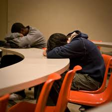 tips to get back on track after an all nighter college fashion student asleep in class