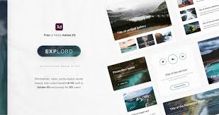 Free In Design Explord Free Ui Kit For Adobe Xd On Behance