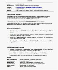 Developer Resume Examples Custom Front End Developer Resume Sample Example Front End Developer Resume