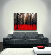 red abstract wall art canvas uk large dark