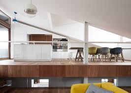 Split Level Living Room Sloped Green Roof Covers Split Level Home