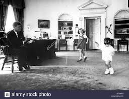 replica jfk white house oval office. John F. Kennedy, In Oval Office With Children Caroline Kennedy And Son Jr., 1962 Replica Jfk White House
