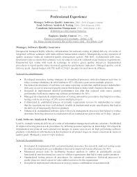 Sample Resume For Quality Engineer Software Quality Engineer Sample ...