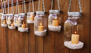 how to make hanging mason jar candle holders