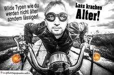 Geburtstag Mann Biker Auf Motorrad байк Geburtstagssprüche