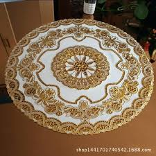 hollow plastic tablecloth round table mat cloth bronzing in mats remodel 4 placemats canada sweet pea