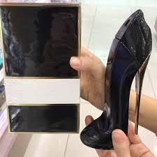 80ml high heeled shoes shape empty glass perfume bottle
