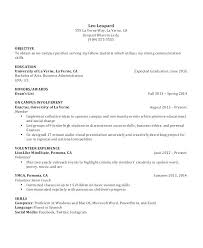 Examples Of A Student Resume Resume Examples For Students High