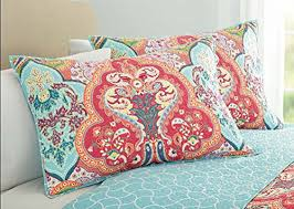 Turquoise & Coral Tropical Beach Quilt Set | Tropical beaches ... & Get this Turquoise & Coral Tropical Beach Quilt Bedding Set. It features  bright colors and Adamdwight.com