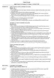Client Relationship Management Resume Client Support Manager Resume Samples Velvet Jobs