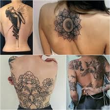 тату на спине женские тату на спине татуировки на спине для