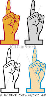 foam finger clipart. number 1 foam finger - csp17210497 clipart