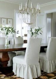 make parson chair slipcovers for my 8 chairs with the ruffle like this dining chair dining chair slipcoversdining room