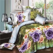 happy life flower 3d bedding sets 4pcs bedspread duvet cover bed sheet pillowcases set queen size