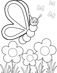 Coloring: Flowers And Butterflies Coloring Pages