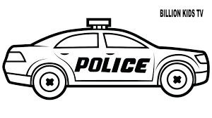 Police Car Coloring Page Dr Schulz