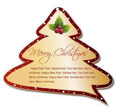 Christmas tree tags vector free vector